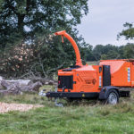 Timberwolf TW 280PHB Petrol Road Tow Wood Chipper - Chipping large logs