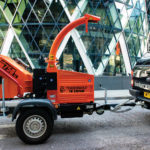 Timberwolf TW 230PAHB Petrol Road Tow Wood Chipper - Outside the Gherkin