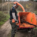 Timberwolf TW 160PH Petrol Road Tow Wood Chipper - wide feed funnel