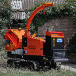 Timberwolf TW 230VTR Petrol Tracked Wood Chipper - in yard